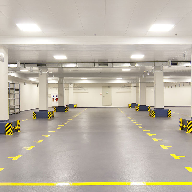 Quartz Floor Coating in Below Grade Parking Garage