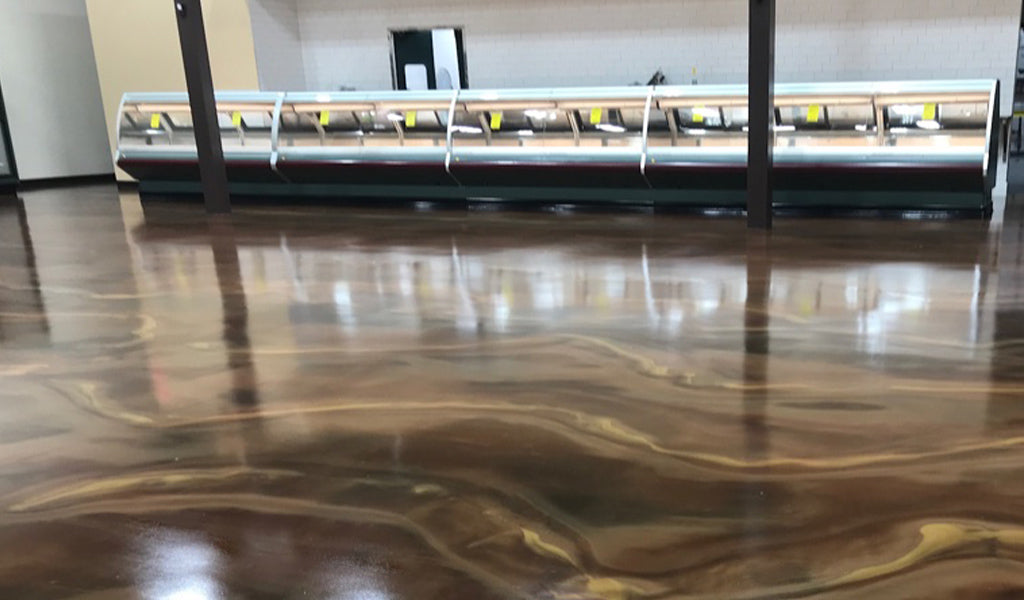 brown metallic floor coating