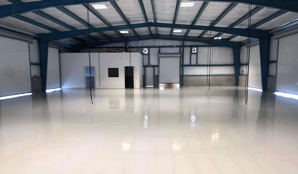 solid color warehouse floor coating resinwerks