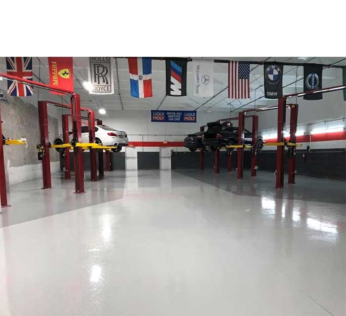 Chemical Resistant Urethane on Shop Floor
