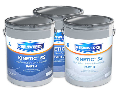 Resinwerks Kinetic HS Slow Cure Polyaspartic Coating 15-Gallon Kit