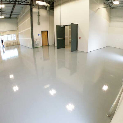 Rapid H2O EP Water Based Epoxy on Shop Floor