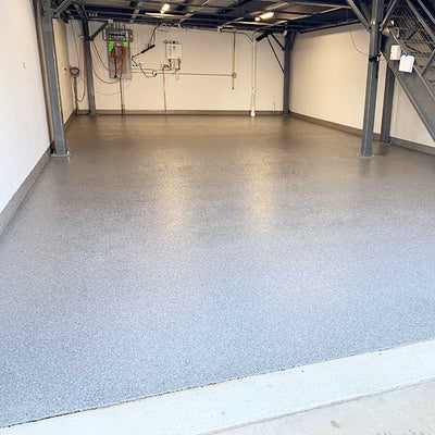 Rapid H2O EP Water Based Epoxy on Garage Floor