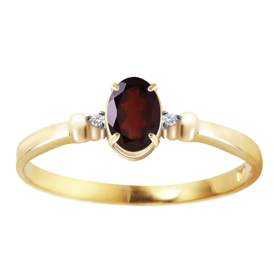0.46 Carat 14K Solid Yellow Gold Sea Of Challenges Garnet Diamond Ring - Ring - valdajewelry - valdajewelry