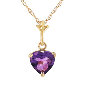 1.15 Carat 14K Solid Yellow Gold It's A Date Amethyst Necklace