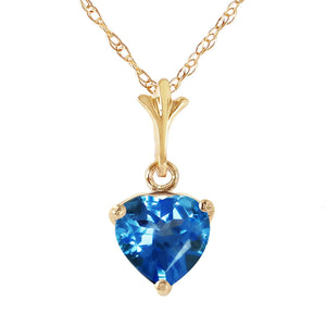 1.15 Carat 14K Solid Yellow Gold Paradox Blue Topaz Necklace