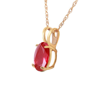1 Carat 14K Solid Yellow Gold Necklace Natural Ruby - Necklace - valdajewelry - valdajewelry