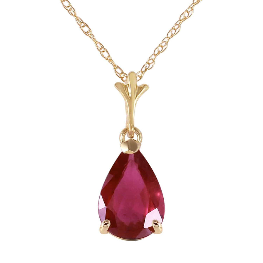 1.75 Carat 14K Solid Yellow Solid Yellow Gold House Of Flesh Ruby Necklace