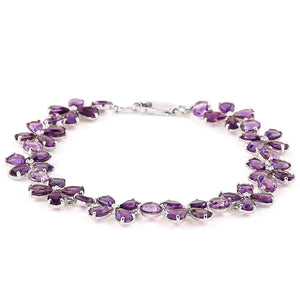 20.7 Carat 14K Solid White Gold Bracelets Natural Amethyst