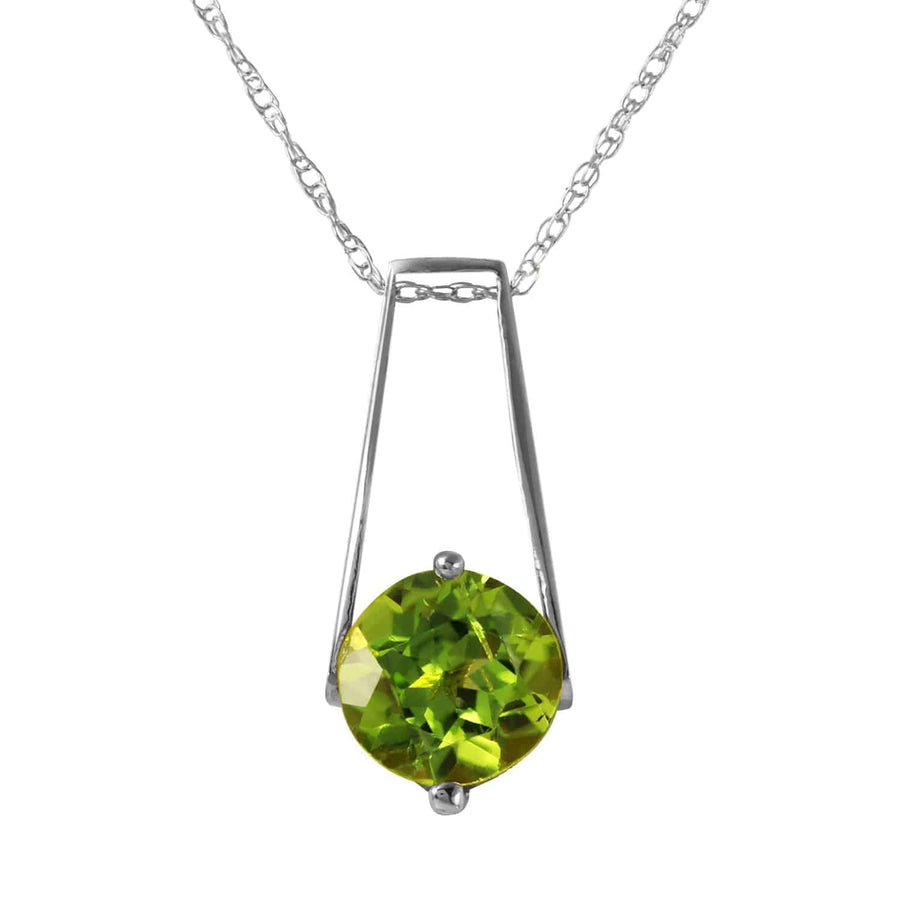 1.45 Carat 14K Solid White Gold In The Hacienda Peridot Necklace