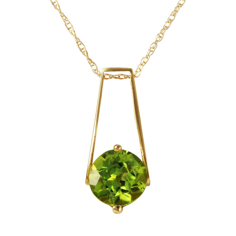 1.45 Carat 14K Solid Yellow Gold London Nights Peridot Necklace
