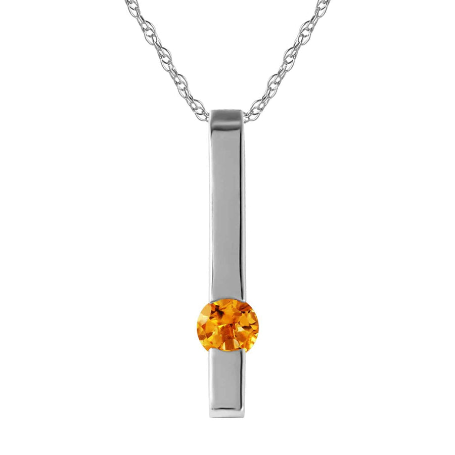 0.25 Carat 14K Solid White Gold Necklace Naturalcitrine - Necklace - valdajewelry - valdajewelry