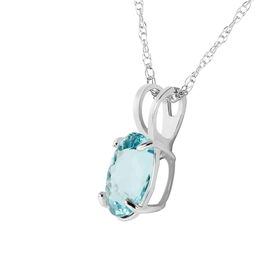0.75 Carat 14K Solid White Gold Seen 'em All Aquamarine Necklace - Necklace - valdajewelry - valdajewelry
