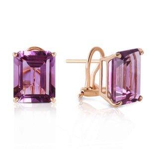 13 Carat 14K Solid Yellow Gold Distinction Amethyst Earrings
