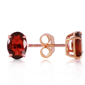 1.8 Carat 14K Solid Rose Gold Panache Garnet Stud Earrings