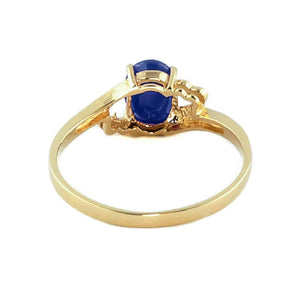 1 Carat 14K Solid Yellow Gold Rings Natural Sapphire - Ring - valdajewelry - valdajewelry