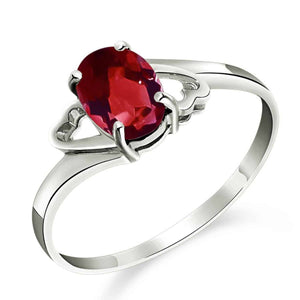 0.9 Carat 14K Solid White Gold Irresistable Touch Garnet Ring - Ring - valdajewelry - valdajewelry
