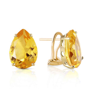 10 Carat 14K Solid Yellow Gold Inspiration Citrine Earrings