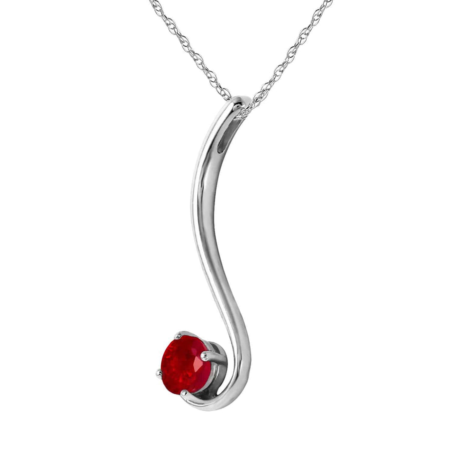 0.55 Carat 14K Solid White Gold This Shows How Ruby Necklace - Necklace - valdajewelry - valdajewelry