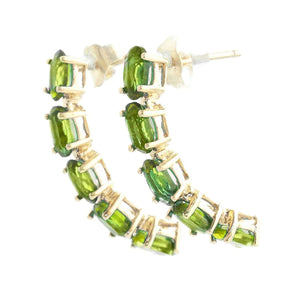 2.5 Carat 14K Solid Yellow Gold Earrings Natural Peridot