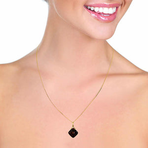 8.75 Carat 14K Solid Yellow Gold Distant Horizon Garnet Necklace
