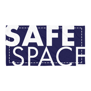 """Safe Space"" Beach Towel"