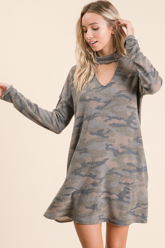 Camo Dress - Acoustic Living Boutique