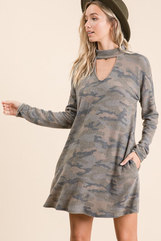 Camo Dress - AcousticLiving