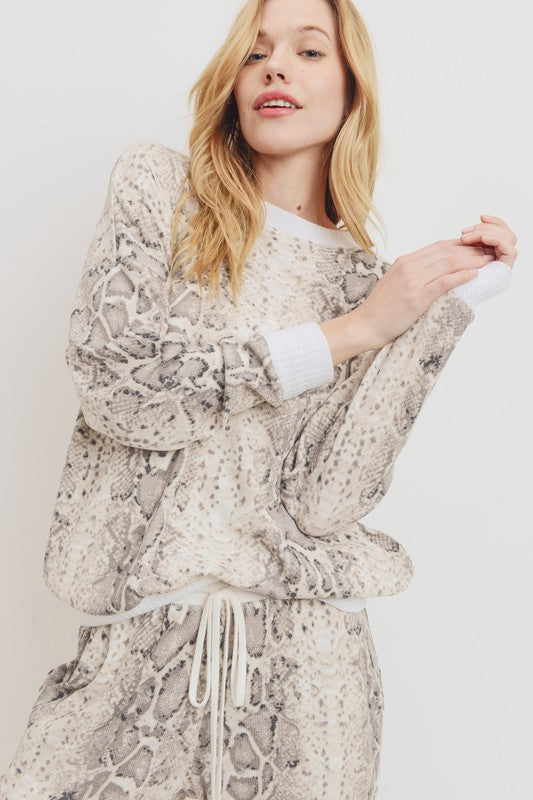 Snake Print Thermal Set - Acoustic Living Boutique
