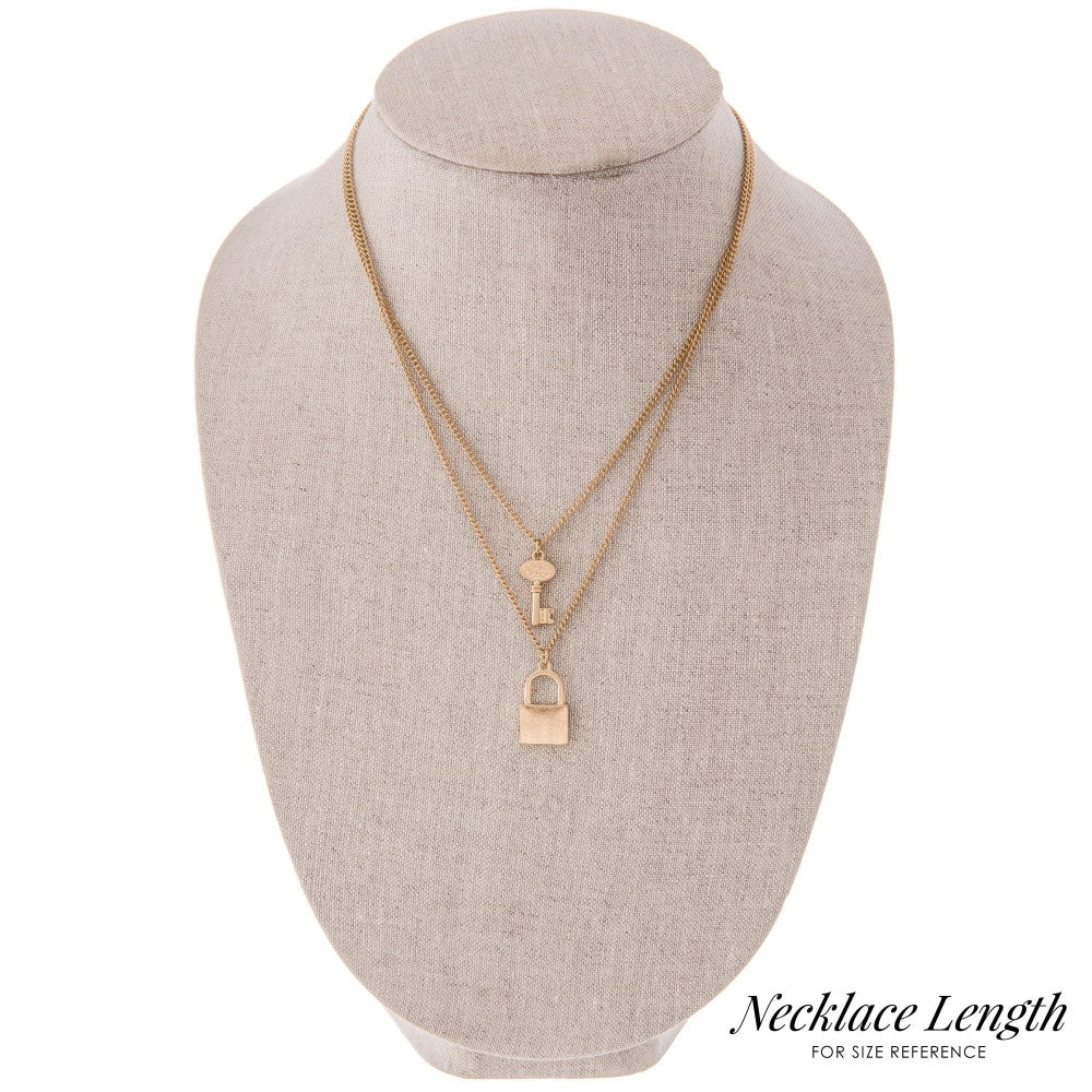 Lock & Key Layered Necklace. - Acoustic Living Boutique
