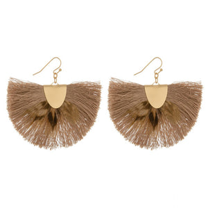 Feather Fanned Earrings - Acoustic Living Boutique