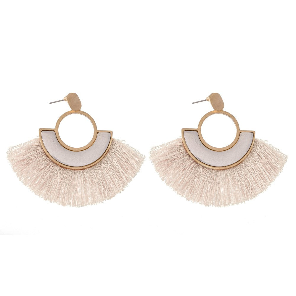 Caroline Earrings - Ivory - Acoustic Living Boutique