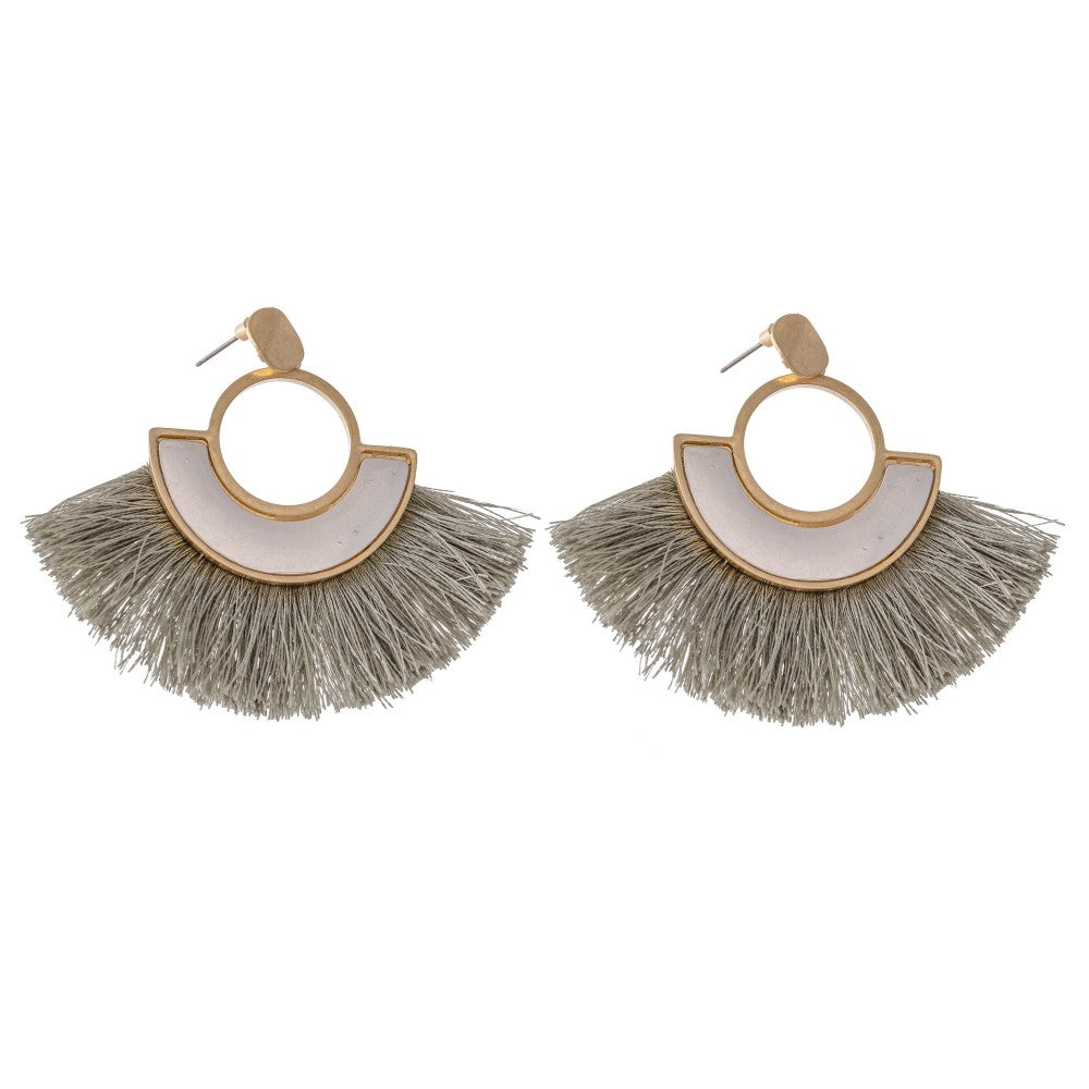 Caroline Earrings - Light Sage - AcousticLiving
