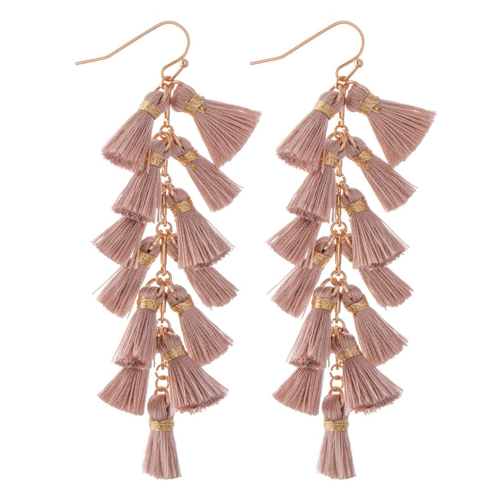 All Play, No Work Tassel Earring - Acoustic Living Boutique