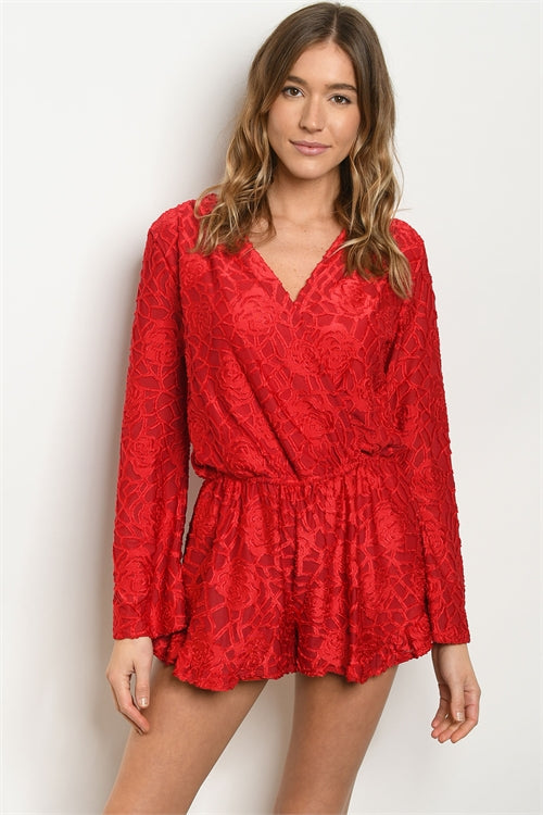 Simone Romper - Red - Acoustic Living Boutique