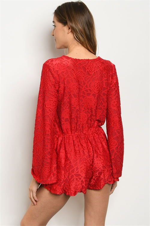 Simone Romper - Red - AcousticLiving