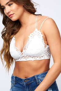 White Crochet Bralette - AcousticLiving