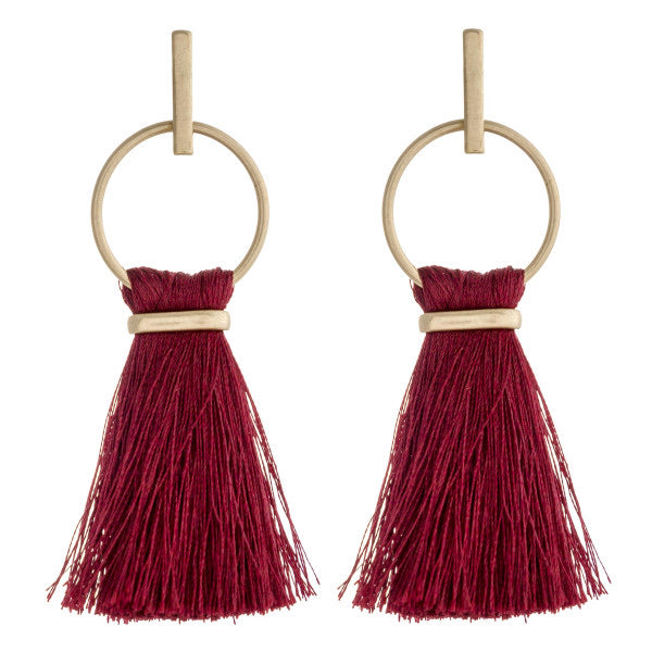 Burgundy Kelly Earrings - Acoustic Living Boutique