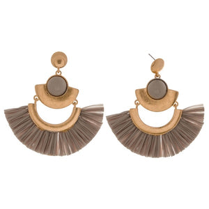 Grey Arabian Nights Earrings - AcousticLiving