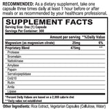 Vitalzym Cardio Supplement Facts