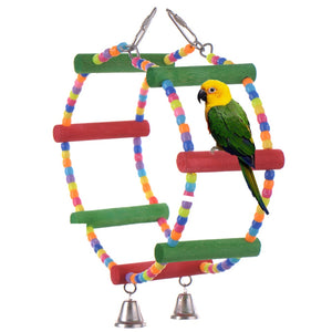 Pet ladder colorful bird toys for small and medium parrots or other Bird pet toys Pet supplies pet bird parrot toys with Bell