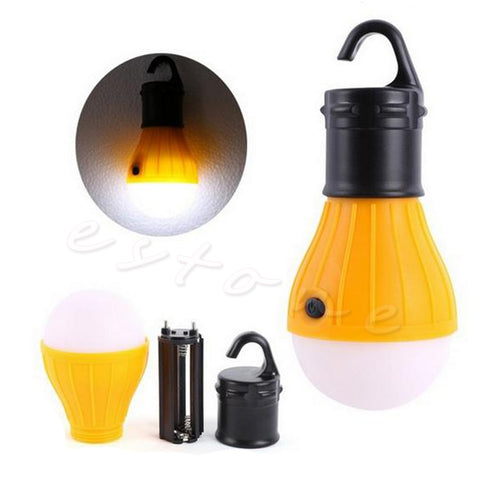 Portable Lanterns outdoor Hanging 3LED Camping Lantern Soft Light LED Camp Lights Bulb Lamp For Camping Tent Fishing