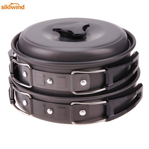 Portable Non-stick Camping Hiking Cookware Bowl Pot Pan Set Camping Picnic Outdoor Tableware Camping Kitchen Tools Hot Sale