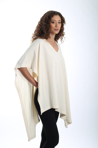 HiLo Poncho Hoodie - Natural