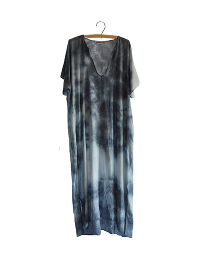 Baja Caftan Dress {long} - Stone Grey