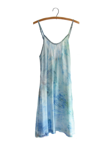 Rouched Slip Dress - Tide Pool