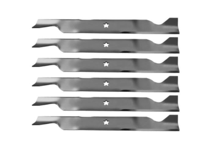 "Set of 6 Poulan Pro 46"" Lawn Tractor Replacement Mower Blades"