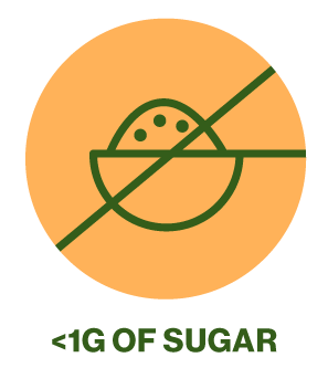 Less than 1g of sugar