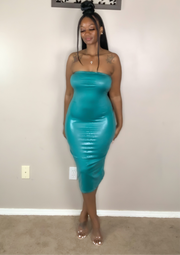 Scales Dress Teal - Vixen Chic