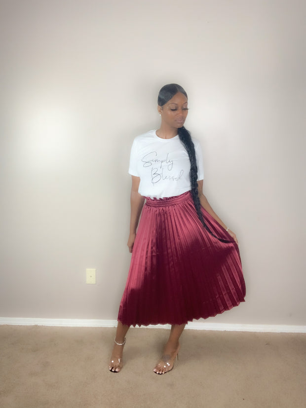 Nicki Pleated Skirt - Vixen Chic